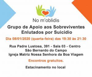 Grupo de Apoio aos enlutados por suicídio | Janeiro de 2020 | Nomoblidis