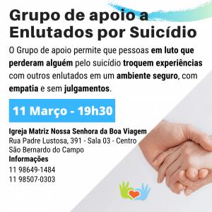 Grupo de apoio a Enlutados por Suicídio - Março-2020