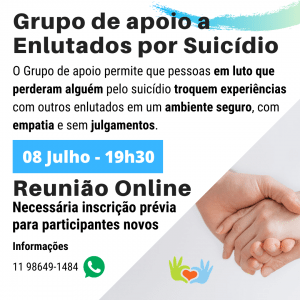 Grupo de apoio a Enlutados por Suicídio - Julho-2020